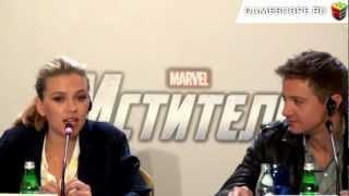 Пресс-конференция фильма Мстители (The Avengers Press Conference)