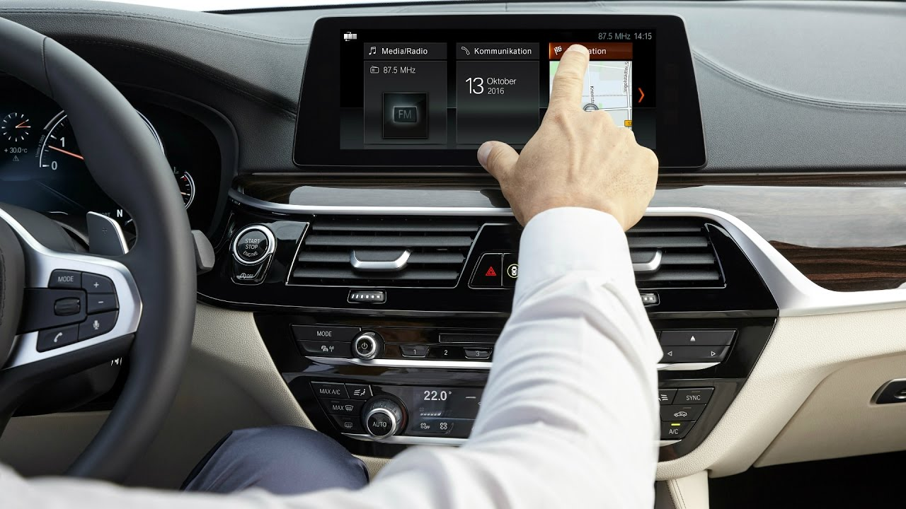 BMW 5 Series: Display on the Control Display