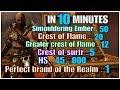 God of war 4 , How to get '' Smouldering ember , Greater / Crest of flame ,  Crest of Surtr . ''