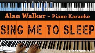 Alan Walker - Sing Me to Sleep - LOWER Key (Piano Karaoke / Sing Along)