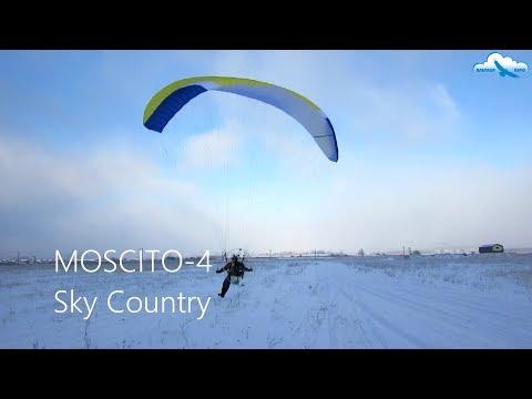 Обзор моторного параплана Sky Country Moscito 4 / Полёт на парамоторе над облаками