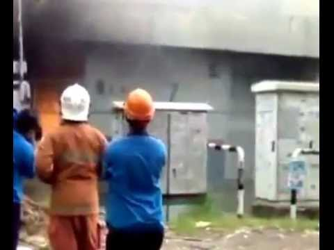 Electrical fire, fire explosion, Malaysia