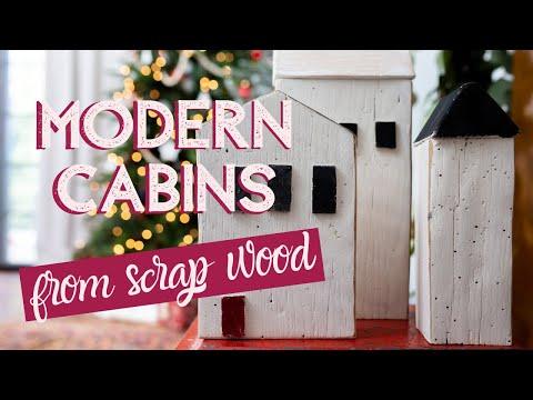 DIY Modern Wooden Winter Cabins
