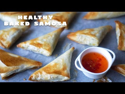 Baked Samosa With Filo Pastry | Healthy Snack Recipe | Hungry For Goodies