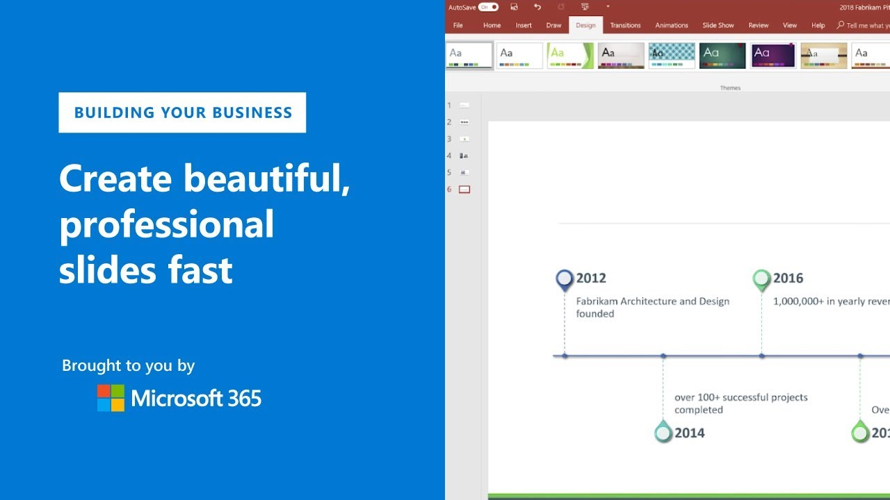 Create beautiful professional slides fast with Microsoft PowerPoint