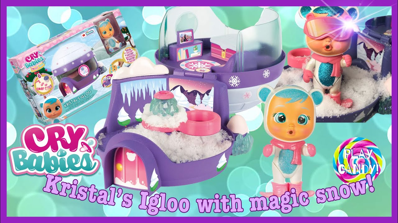 Exclusive - Cry Babies Magic Tears Kristal's Igloo with real Magic Snow! ❄️
