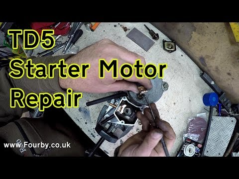 Land Rover TD5 Starter Motor Clicking?? here's the repair….