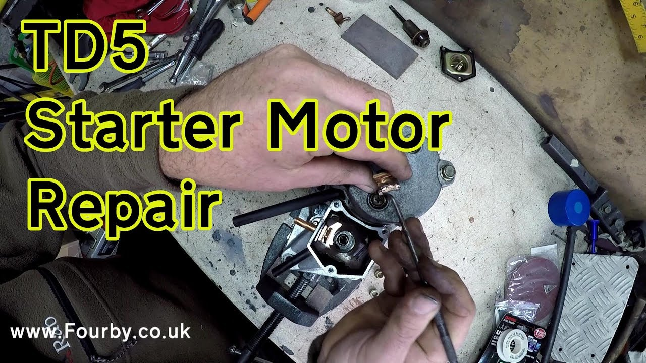Land Rover TD5 Starter Motor Clicking?? here's the repair
