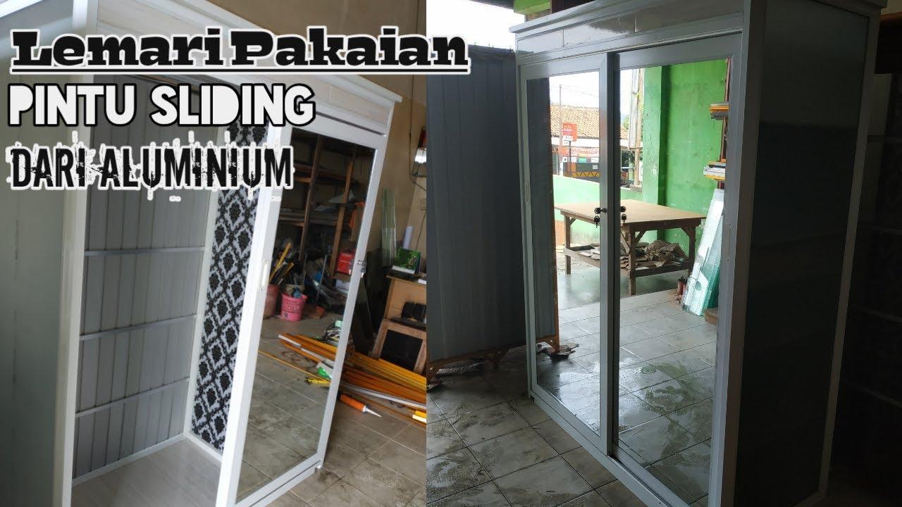 Reviewlemari Aluminium Lemari Pakaian Sleding Kekiniaan Dari Alumunium Minimmalis Murah Mewah Youtube