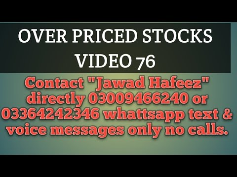 Over priced stocks video 76