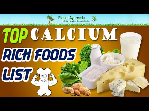 Top Calcium Rich Foods List