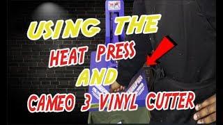 Heat Press Transfer Vinyl On T-Shirts Using The Cameo 3 Vinyl Cutter Machine
