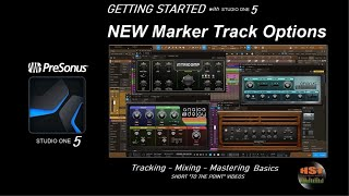 NEW Marker Track Options - PreSonus Studio One 5