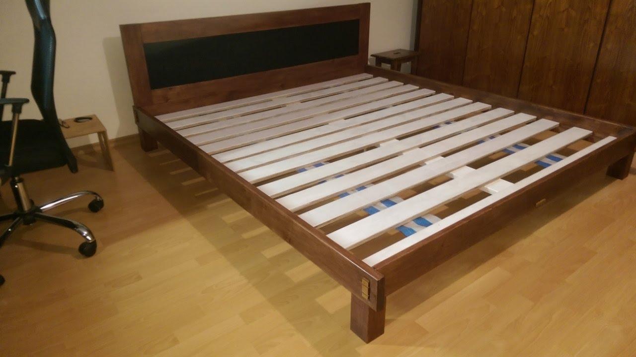 łóżko Do Sypialni Bez śrub I Wkrętów Diy King Size Bed 7