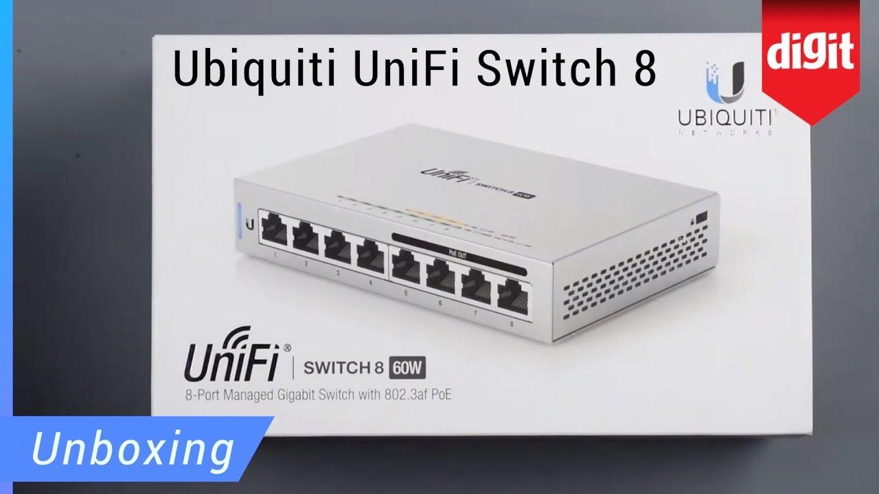 UniFi Switch 8 US-8-60W 8-Port Fully Managed Gigabit Switch 802.3af PoE Ports