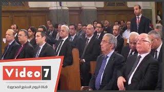 وزراء وشخصيات عامة يصلون الكنيسة الإنجيلية لحضور قداس عيد القيامة