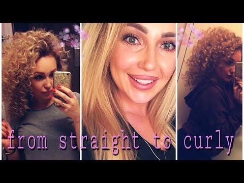 Curly hair| Afro locken| Afrolocken mit Lockenstab| extreme Locken| from straight hair to curly hair