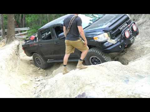 Black Pearl The Tundra Taking On Daniel's 1st & 2nd Ledge - Uwharrie National Forest, North Carolina