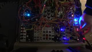 Short, improv jam focusing on natural, acoustic sounds: - piano is the Mannequins Mangrove filtered by the WMD/SSF Pole Zero, with envelope from the 2HP EG ...