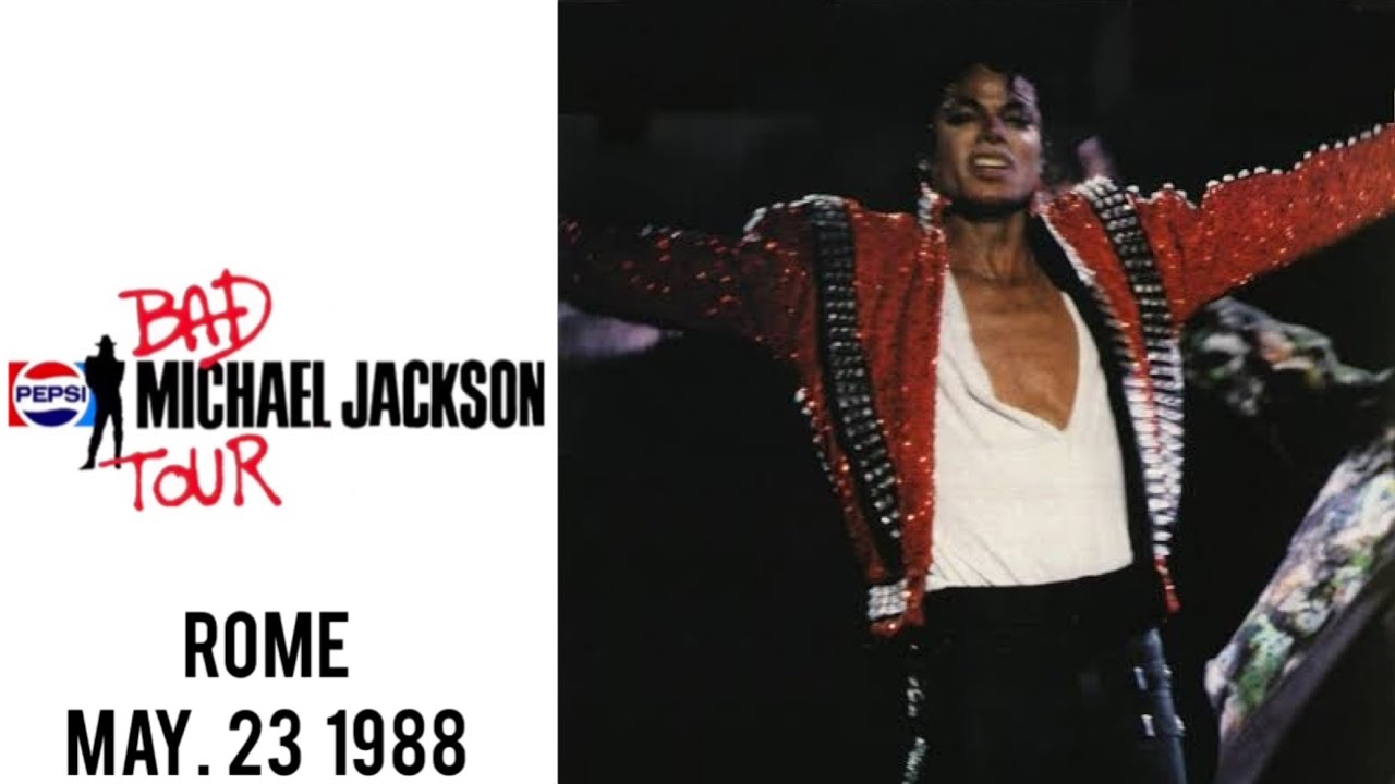 Michael Jackson - Bad Tour Live in Rome (23.5.1988) - YouTube