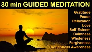 Healing Guided Meditation - ASMR, Relaxation, Gratitude, Love, Forgiveness, Thoughtless Awareness