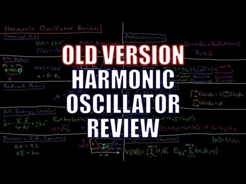 Quantum Chemistry 5.0 - Harmonic Oscillator Review (Old Version)