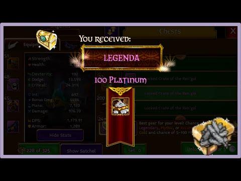 Arcane Legends // Abrindo Locked Sem Platium // Usando KEYS //
