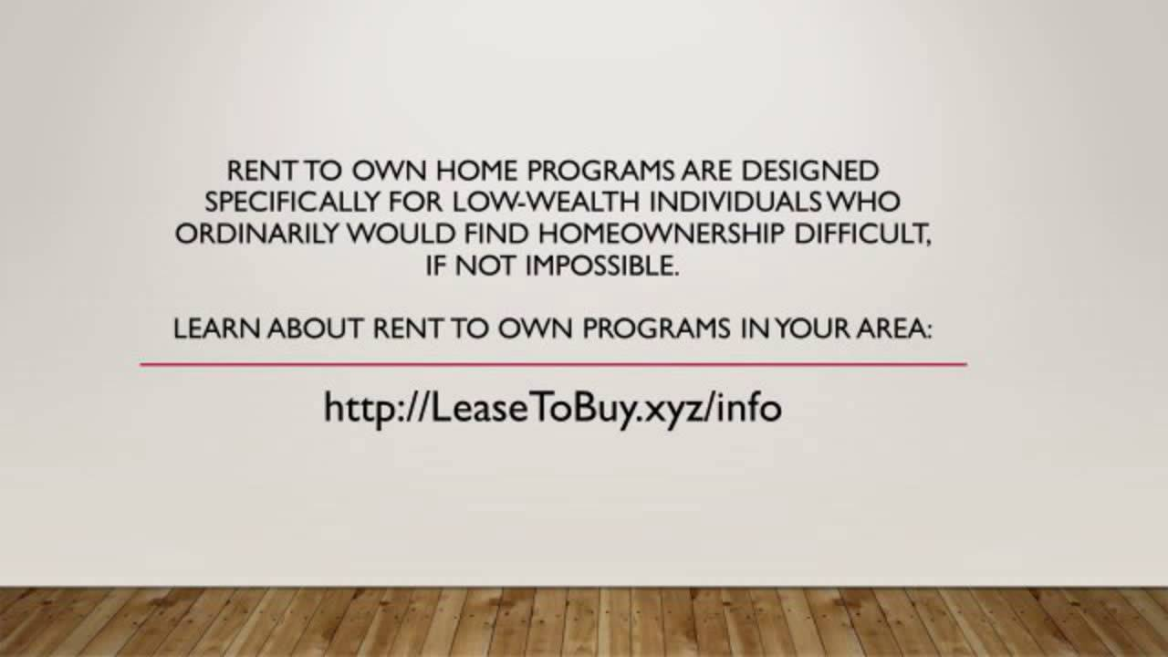 Rent To Own Homes In Mississippi - Lease To Own - YouTube