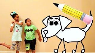 DOODLE DOG vs Shiloh and Shasha! - Onyx Kids