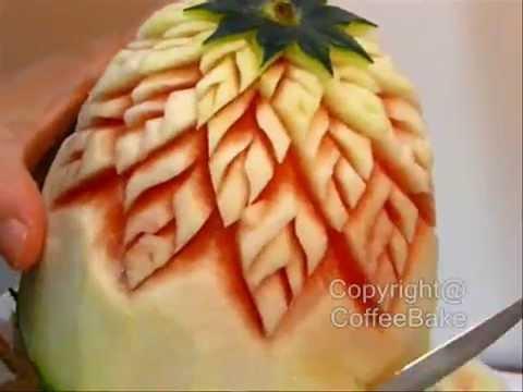 แกะสลักแตงโมแบบที่ 1,Watermelon carving @1