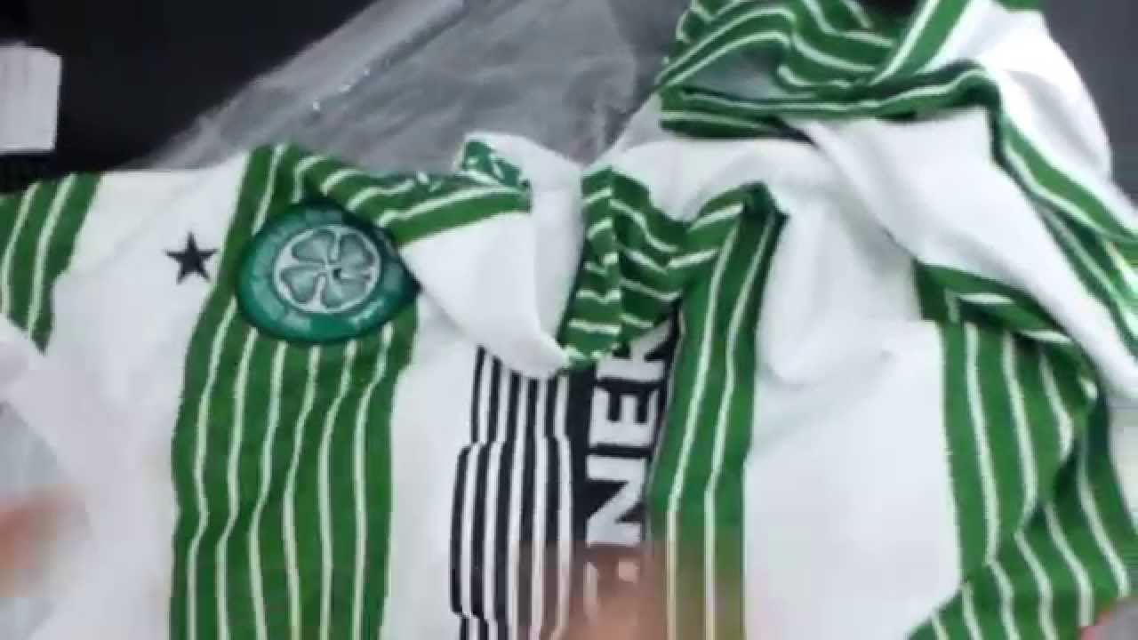 detailed look 607a9 03ad4 Celtic FC 2014 Nike Home Jersey Unboxing & Review [Full HD]