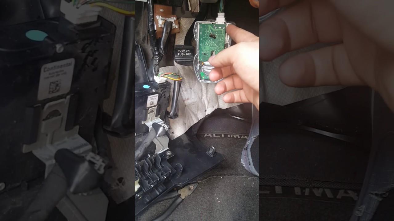 nissan altima 2009 steering lock fixing - youtube