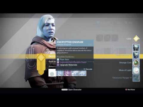 Destiny: Rise Of Iron - Engram Decrypting Simulator
