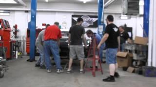 1964 Corvette - Frame Repair - Putting the Body On The Hoist