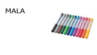 Фломастер ИКЕА МОЛА 12 цветов обзор детских фломастеров, качественные фломастеры IKEA MALA