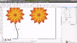 урок цветок в корел дро