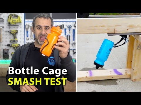 Which water bottle cage will survive the bottle smasher?