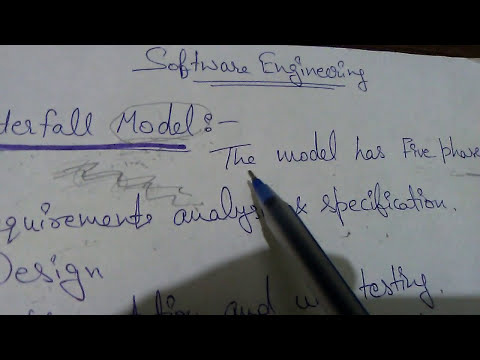 04.Waterfall model in software engineering || B.Sc || BCA || M.Sc || MCA