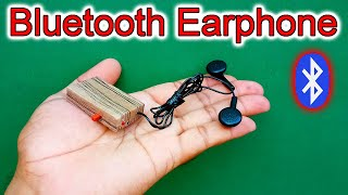 How To Make A Bluetooth Earphone From PVC Pipe | Wireless Earphone DIY | Bluetooth Handsfree DIY