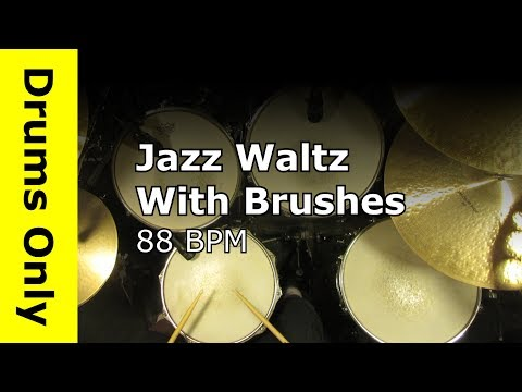 Jazz Waltz 3/4 Drum Beat With Brushes 88 BPM