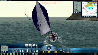 Stentec Sail Simulator 5: CF record run: Bavaria.