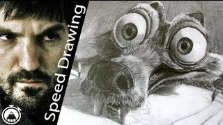 AMAZING SCRAT! Best sketch of Ice Age 4 - Speed Drawing VERY FAST VERSION!