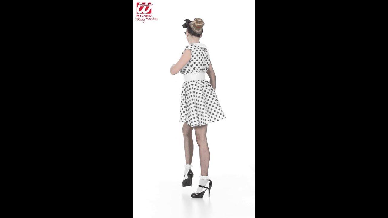 50er jahre petticoat kleid damenkost m youtube. Black Bedroom Furniture Sets. Home Design Ideas