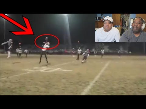 Dad Reacts to Amazing Highschool Football Plays!