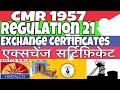 CMR 1957    regulation 21    exchange certificates    mining technical    miningtechnical