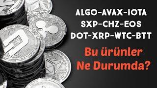 #Altcoin Analiz - Algo - Avax - Iota - Sxp - Chz - Eos - Dot - Xrp - Wtc - Btt - Teknik Analiz Forex