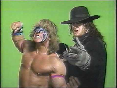 Ultimate Warrior and Undertaker w/ Paul Bearer promo - WWF ...