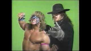 Ultimate Warrior and Undertaker w/ Paul Bearer promo - WWF - June 1992