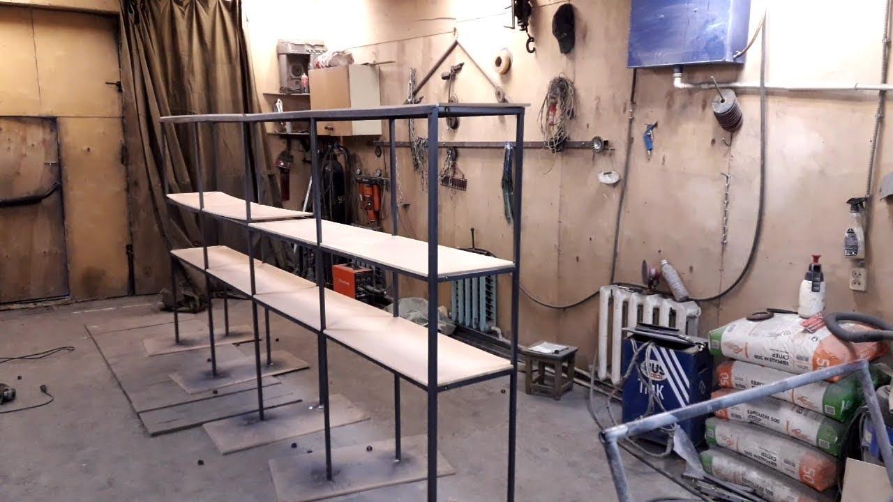 Стеллаж из профиля  в гараж своими руками DIY shelving in the garage