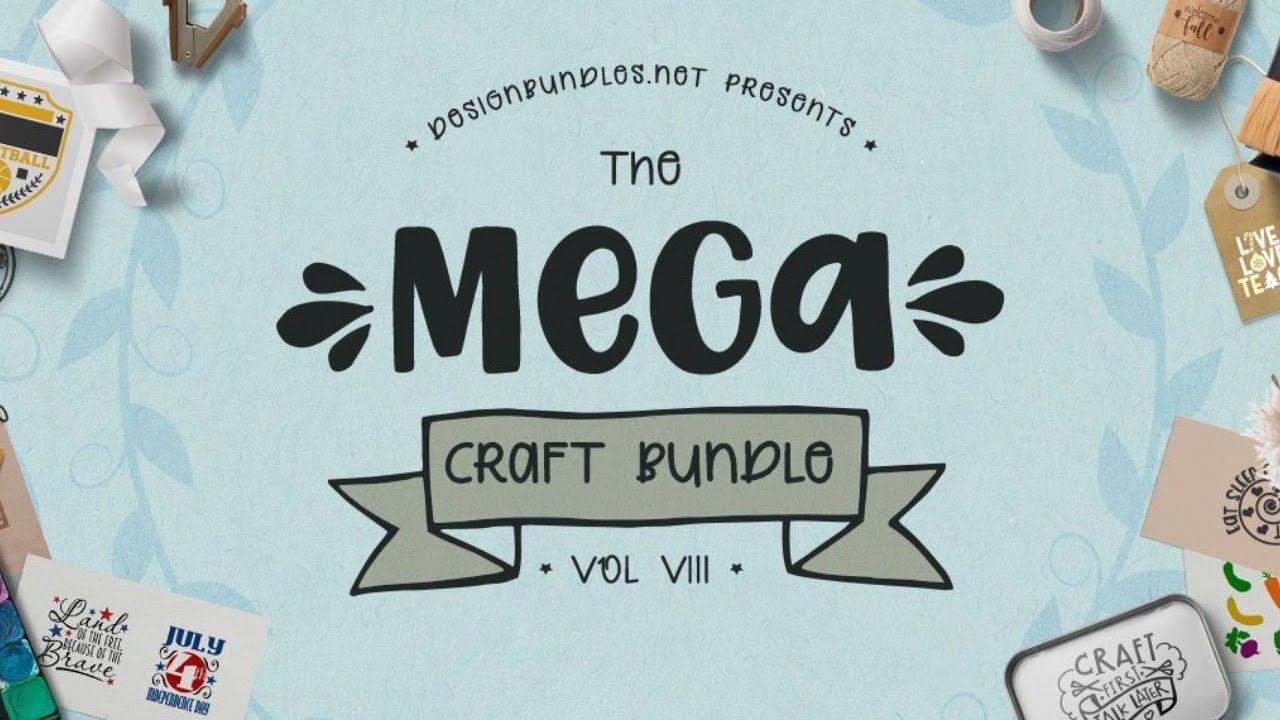 Design bundles Mega Craft Bundle VIII Review!